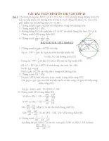 các bài toán hình học ôn thi vào lớp 10 có giải chi tiết