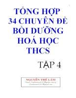 Tổng hợp 34 chuyên đề bồi dưỡng hóa học Trung học cơ sở tập 4