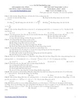 đề thi thử đại học lần 1 năm 2014 môn vật lý khối a - a1 minh khai