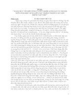 GIÁO DỤC VỀ GIỚI TÍNH VÀ SỨC KHỎE SINH SẢN VỊ THÀNH NIÊN CHO HỌC SINH LỚP CHỦ NHIỆM TRONG CÁC GIỜ ĐỘNG TẬP THỂ