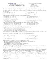 đề thi đại học, cao đẳng môn vật lý - 2012 chu văn an