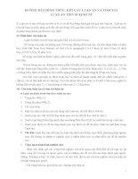 HƯỚNG dẫn HÌNH THỨC, kết cấu LUẬN án và tóm tắt LUẬN án TIẾN sĩ KINH tế
