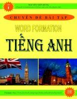 Chuyên đề bài tập Word Formation tiếng Anh