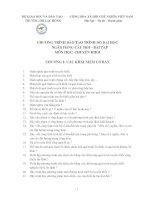 CHƯƠNG TRÌNH ĐÀO TẠO TRÌNH ĐỘ ĐẠI HỌC NGÂN HÀNG CÂU HỎI BÀI TẬP MÔN HỌC CHUYỀN KHỐI