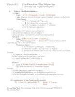 Chuyên đề 1 câu điều kiện và quá khứ bàng thái