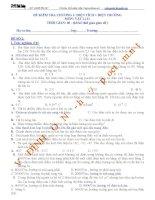 đề kiểm tra chương 1. điện tích + điện trường - số 2