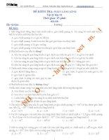 đề kiểm tra 15' phần lăng kính - có đáp án chi tiết