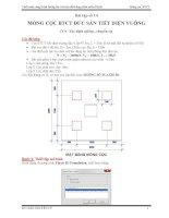 Tính toán công trình tương tác với nền đất bằng phần mềm Plaxis: Bài tập số 14
