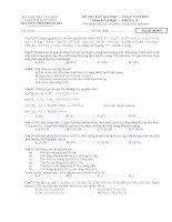 Đề thi thử Hóa Học THPT Bình Gia lần 1  2015