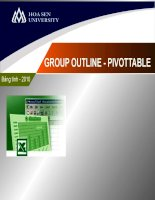 slide bài giảng  chức năng  group outline pivot table trong excel