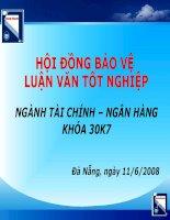 HOẠCH ĐỊNH CHIẾN LƯỢC PHÁT TRIỂN KINH DOANH TỪ NĂM 2008 – 2012 CHO CÔNG TY CHỨNG KHOÁN ACBS