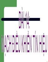 Giáo án điện tử công nghệ: mạch điều khiển tín hiệu docx