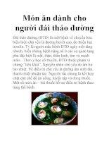 Món ăn dành cho người đái tháo đường pptx