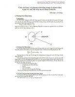 Cách vận dụng các phương trình động lượng và moomem động lượng vào một chất lỏng chuyển động không đổi potx