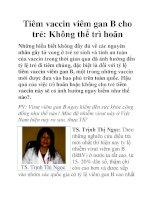 Tiêm vaccin viêm gan B cho trẻ: Không thể trì hoãn pdf