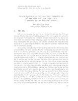 VẬN DỤNG PHƯƠNG PHÁP DẠY HỌC THEO DỰ ÁN ĐỂ DẠY MÔN GIÁO DỤC CÔNG DÂN Ở TRƯỜNG TRUNG HỌC PHỔ THÔNG doc