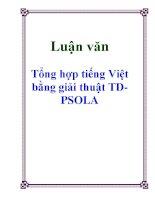 Luận văn: Tổng hợp tiếng Việt bằng giải thuật TD-PSOLA pot