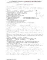 Câu hoi trắc nghiệm vật lý 10 pot