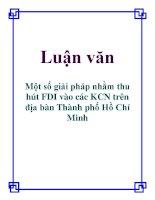 Luận văn: Một số giải pháp nhằm thu hút FDI vào các KCN trên địa bàn Thành phố Hồ Chí Minh potx