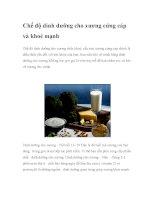 Chế độ dinh dưỡng cho xương cứng cáp và khoẻ mạnh ppt