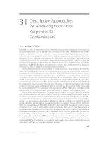 ECOTOXICOLOGY: A Comprehensive Treatment - Chapter 31 pptx