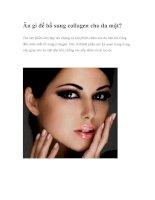 Ăn gì để bổ sung collagen cho da mặt? doc
