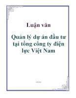 Luận văn: Quản lý dự án đầu tư tại tổng công ty điện lực Việt Nam docx