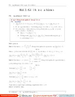 Phương pháp giải bài tập giới hạn hàm số