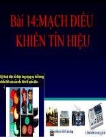 Bài giảng điện tử công nghệ: mạch điều khiển tín hiệu pdf