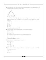 – ACT MATH TEST PRACTICE – 74. Choice f is correct. Since YW is an altitude in an equilateral pptx