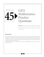 C H A P T E R 45 Directions GED Mathematics Practice Questions NOW IT'S time to put all that you doc