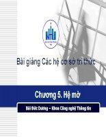 Bài giảng Các hệ cơ sở tri thức.Chương 5. Hệ mờ pdf