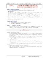 Bài 6 : Mạch Khuếch Đại Dùng Transistor Trường (FET) ppt