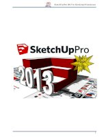 Tài liệu sử dụng SketchUp Pro 2013 tiếng việt