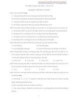 Câu hỏi và bài tập trắc nghiệm khách quan vật lý 10-Chương 3: Tĩnh học vật rắn doc