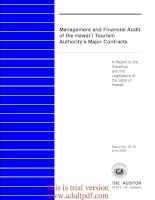 Management and Financial Audit of the Hawaii Tourism Authority's Major Contracts A Report _part1 ppt