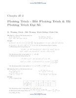 tổng hợp nhiều chuyên đề phần phương trình