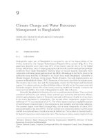Climate Change and Water Resources in South Asia - Chapter 9 docx