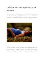 Chế độ ăn uống lành mạnh cho phụ nữ mang thai ppt