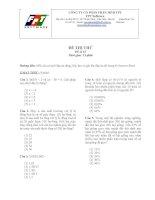 Đề thi thử GMAT TEST và IQ TEST của FPT