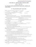 Bài tập Lý lớp 11 năm 2010-2011 pdf