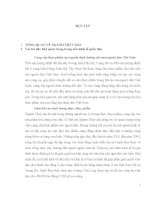 BÀI TẬP NHÓM MÔN PHÁT TRIỂN BỀN VỮNG : CÁC CHỈ TIÊU PHÁT TRIỂN BỀN VỮNG NGÀNH THỦY SẢN