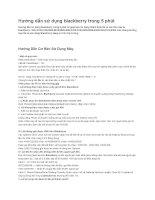 Tổng hợp các hướng dẫn sử dụng blackberry 8700