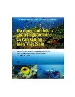 Đa dạng sinh học và giá trị nguồn lợi cá rạn san hô biển Việt Nam part 1 docx