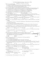 Câu hỏi và bài tập trắc nghiệm khách quan vật lý 10 pptx