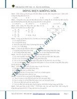 Bài tập trắc nghiệm chương dòng điện không đổi potx