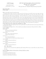 đề thi thử đh môn văn và đáp án