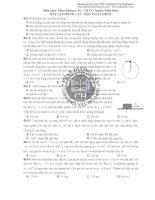 Phần thư nhất bài tập đông lực học chất điểm trường THPT chuyên Vĩnh Phúc ppt