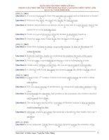 Dạng bài tập tìm lỗi sai trong cấu trúc đề thi tuyển sinh đại học, cao đẳng môn tiếng Anh qua các năm