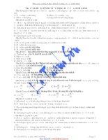 Bài tập trắc nghiệm phần tính chất sóng - hạt của ánh sáng. potx
